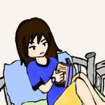 Janel Reading Manga by janelvalle