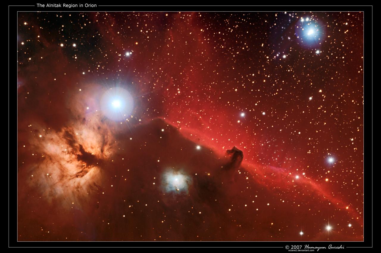 The Alnitak Region in Orion by octane2
