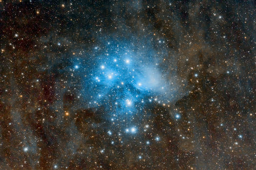 The Pleiades (M45) in Taurus