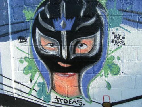 rey misterio graffiti by troeks