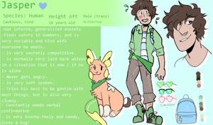 Jasper ( Trainer ) Nuzlocke REF by CucumberrPrince