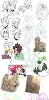 pokemon / nuzlocke sketch dump by CucumberrPrince