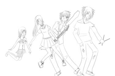 Lets make a Rock band protagonistas by alexan05011995
