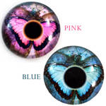 Butterfly Glass Eye Cabochons by Glamour365