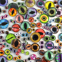 Glass Eyes for Jewelry, Taxidermy, Dolls, and More by Glamour365