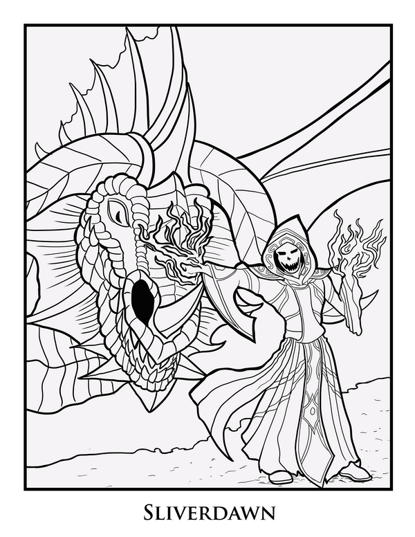Coloring Page - Sliverdawn by LucidCreations on DeviantArt