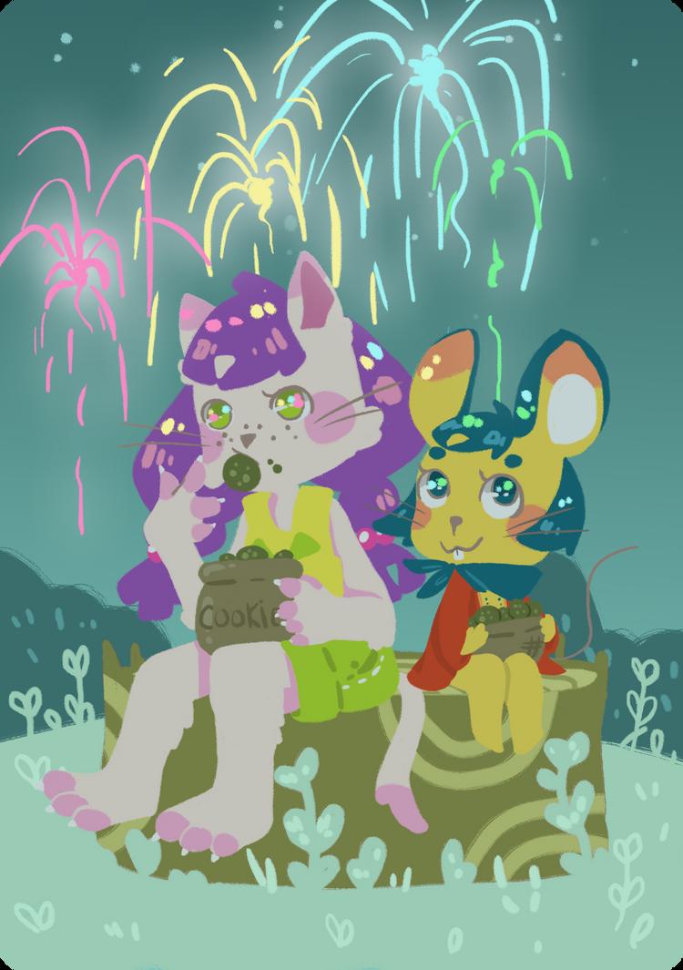 DC - Fireworks by cosmodork