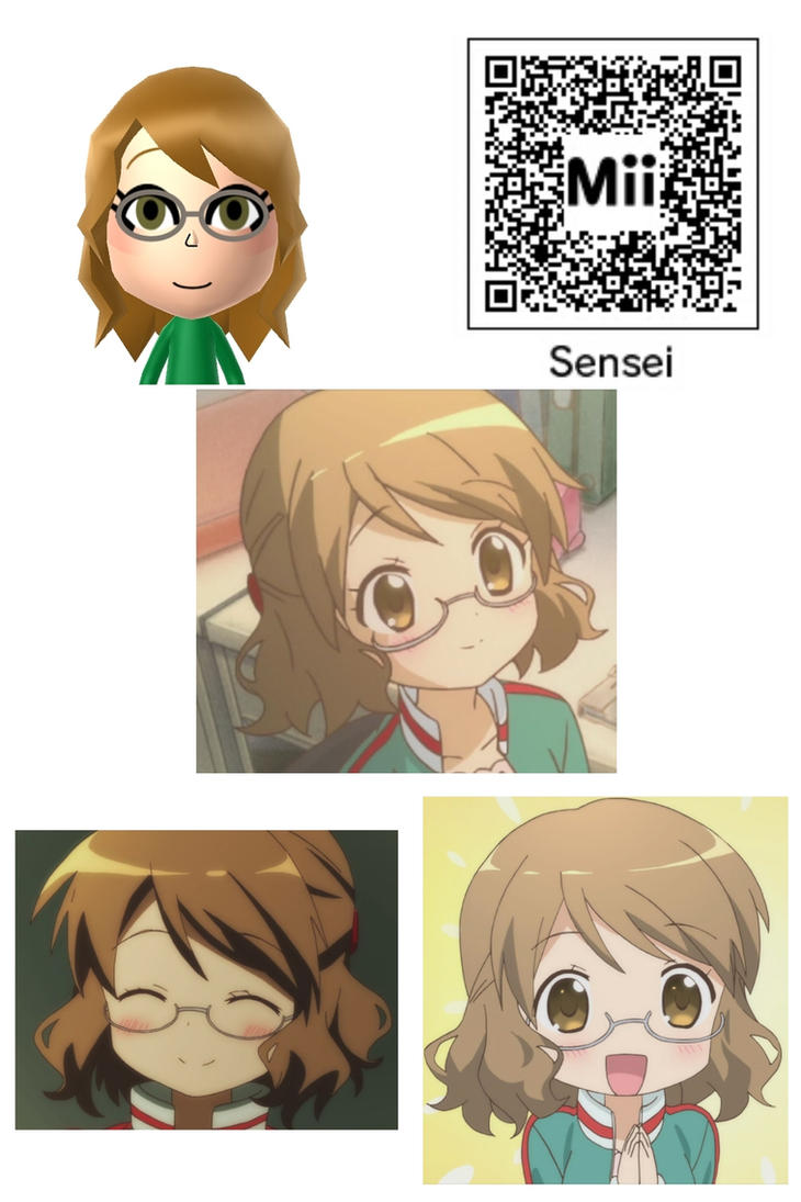 Anime Mii Characters 3ds : Sakura karasuma sensei mii kiniro mosaic by bobby sama