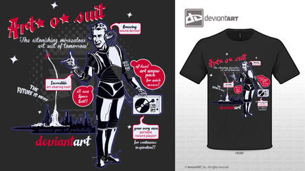 Art-o-suit retro future t-shirt by staxandy