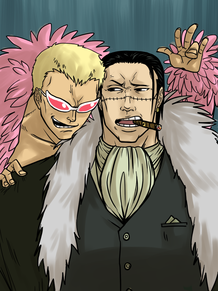 One piece doflamingo flag
