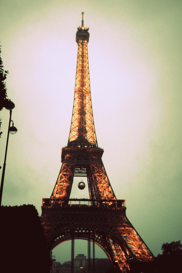 Eiffel Tower in Cross Process by A-RaeDArc