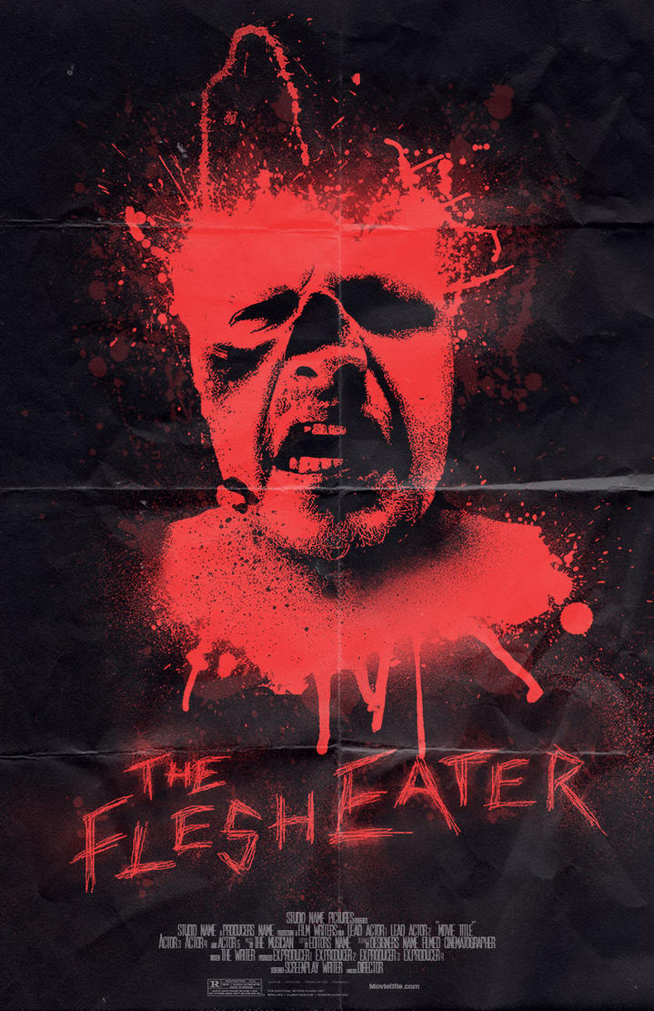 The Flesh Eater Horror Movie Poster By Gordomedia On