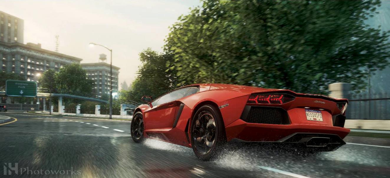 Lamborghini Aventador Nfs Most Wanted 2012 By Iqbalherindra