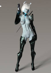 Andorian Mercenary Nude Final by 666markofthebeast666