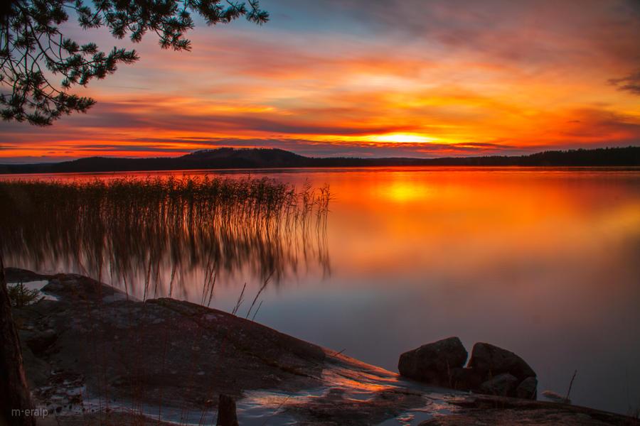 orange sunset by m-eralp