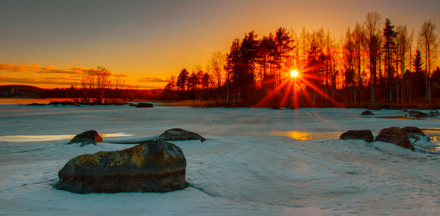 Sunset in Nenainniemi by m-eralp