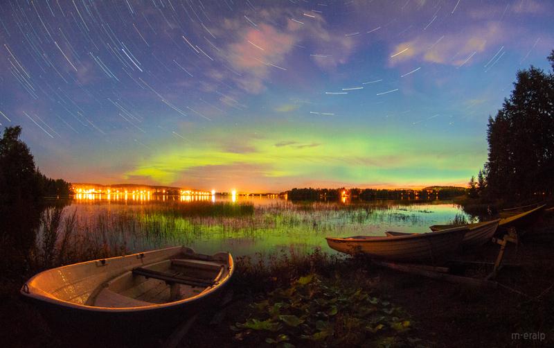 Aurora and star trails by m-eralp