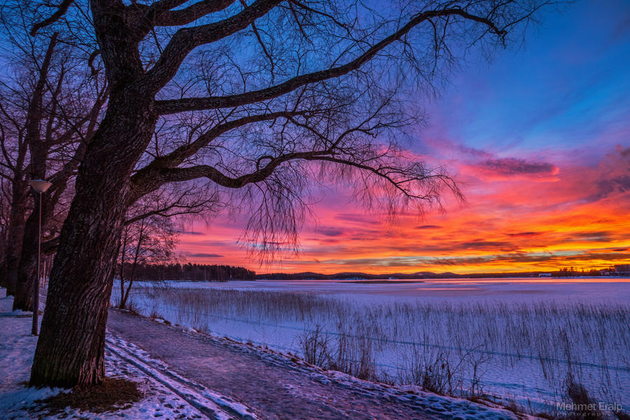 Winter sunset by m-eralp