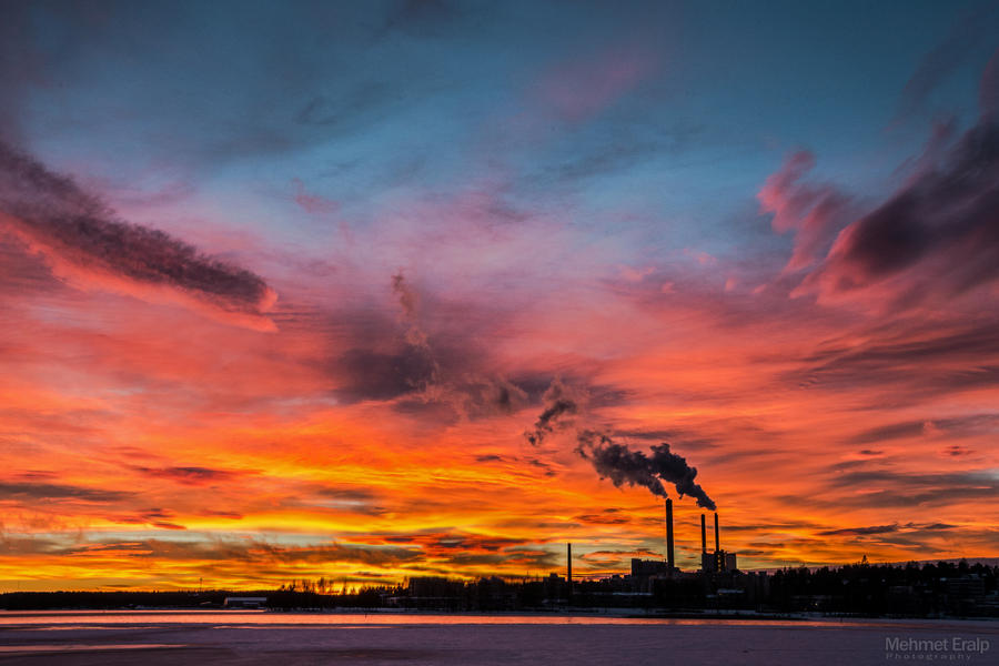 Burning skies by m-eralp