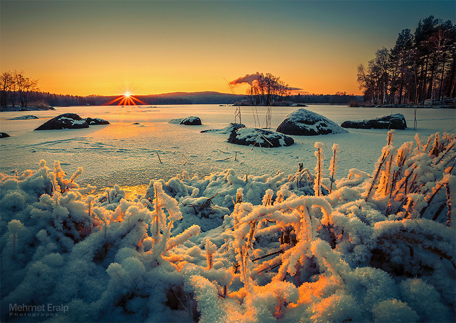 Winter sunset II by m-eralp