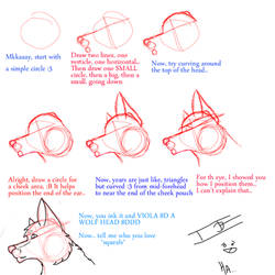 Wolf head tutorial... by Iceshadow13