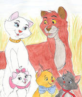 The Aristocats family portrait by greydeer2010