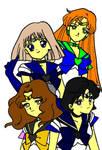 Group of otaku scouts