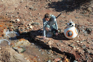 BB-8 and Rey (Star Wars: Force Awakens)