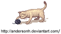 The cat and the ball by AndersonH