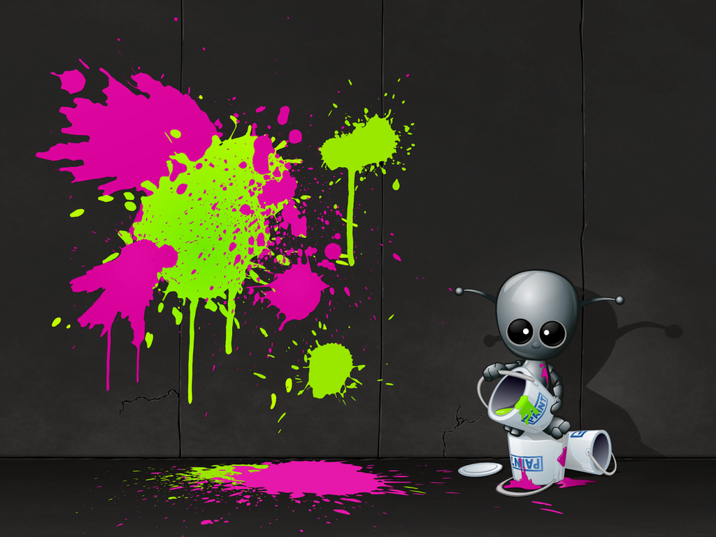 Lil' J The Pollock-o-bot by Klowner