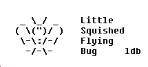 Little Squished Flying Bug by ThatGrrl