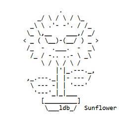 Sunflowerascii