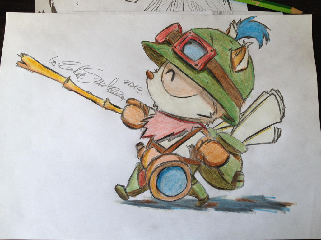 how to draw cottontail teemo