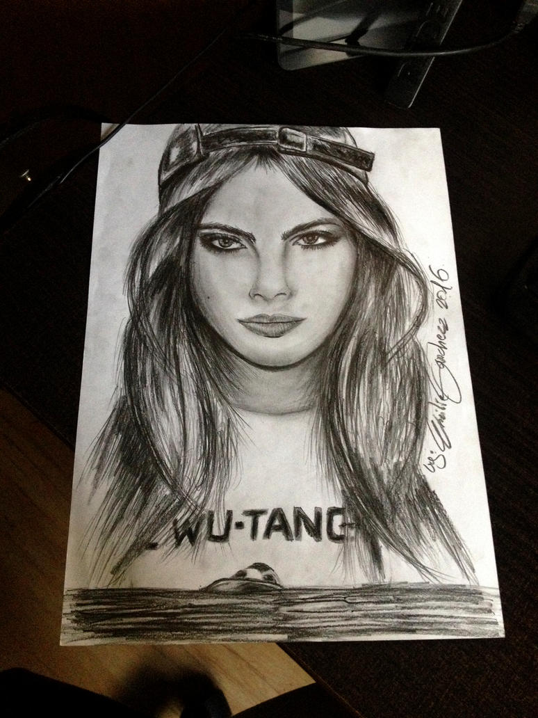 CARA-DELEVINGNE - [WU-TANG] Shirt by ESanchezz-Drawing
