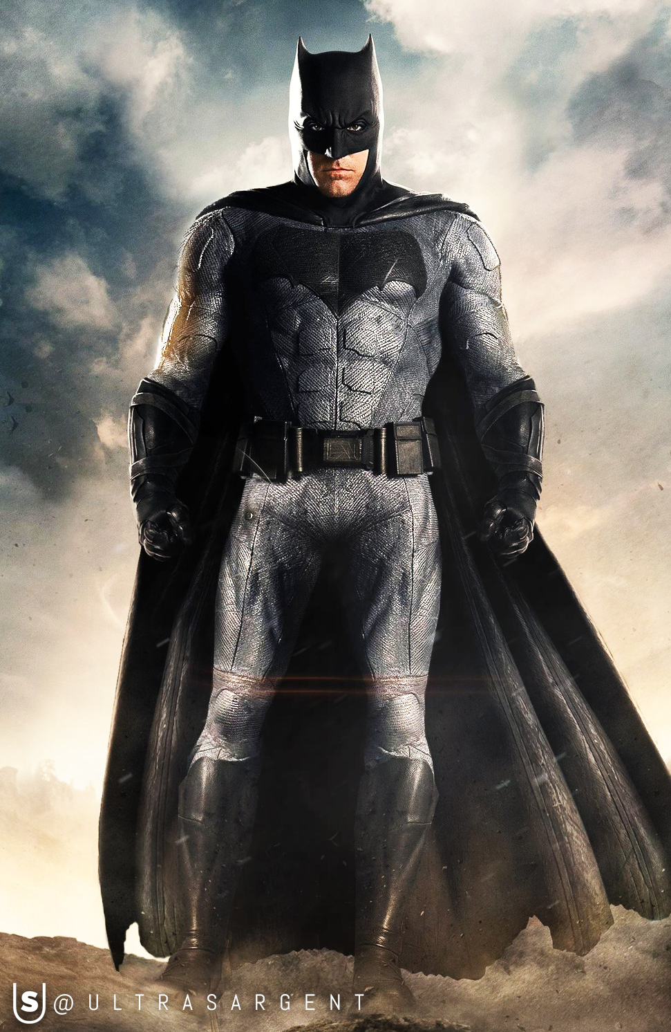 Justice League | Batman Grey Suit Variant by UltraSargent ... Ben Affleck Batman