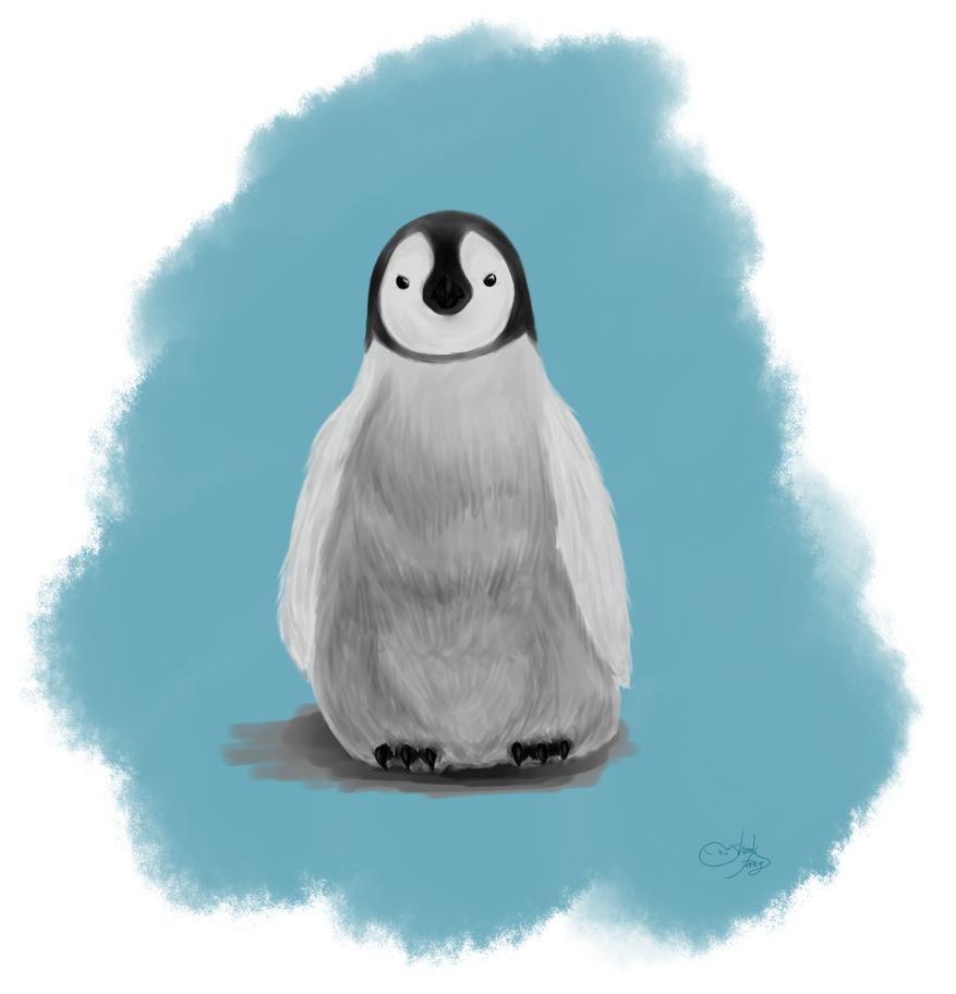 Baby penguin art - photo#15