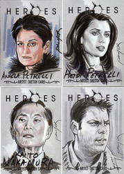 Mo Heroes Sketch cards by jasonpal