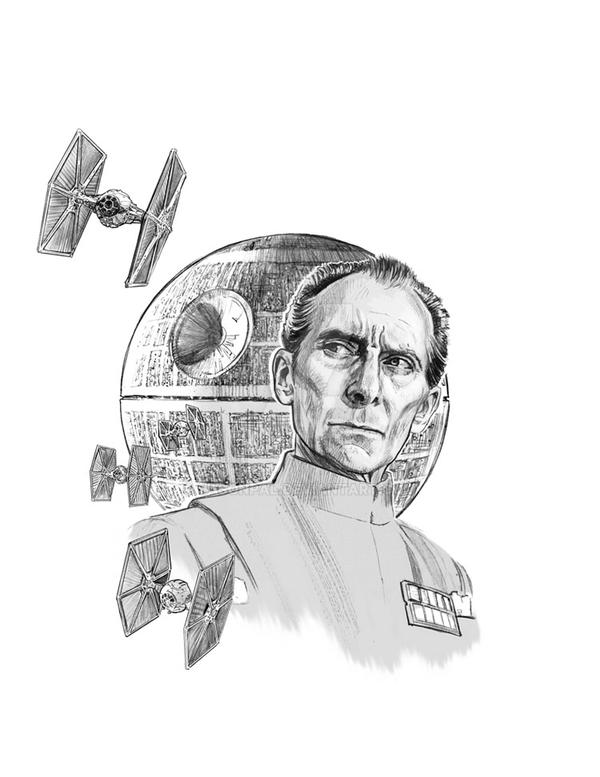 Tarken and Death Star by jasonpal