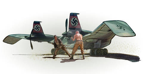 Indy flying Wing fight
