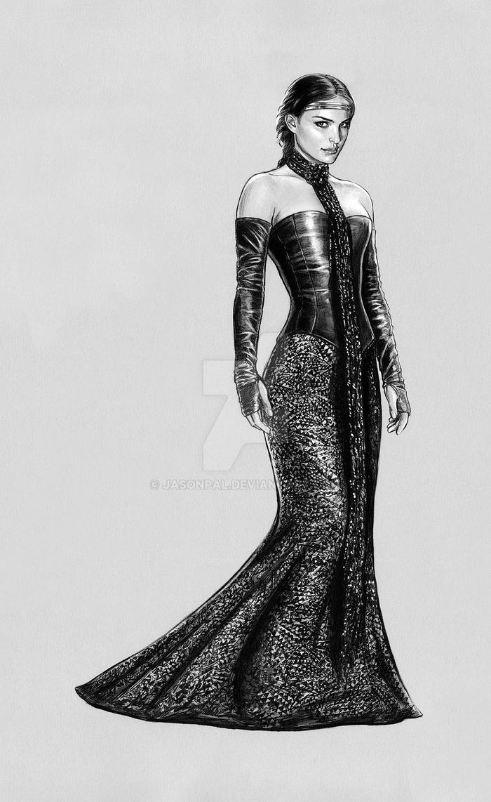 3fa5402a63 padme -Black Leather Gown by jasonpal on DeviantArt