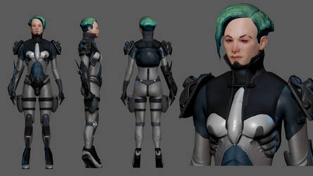 SciFi Lady high poly