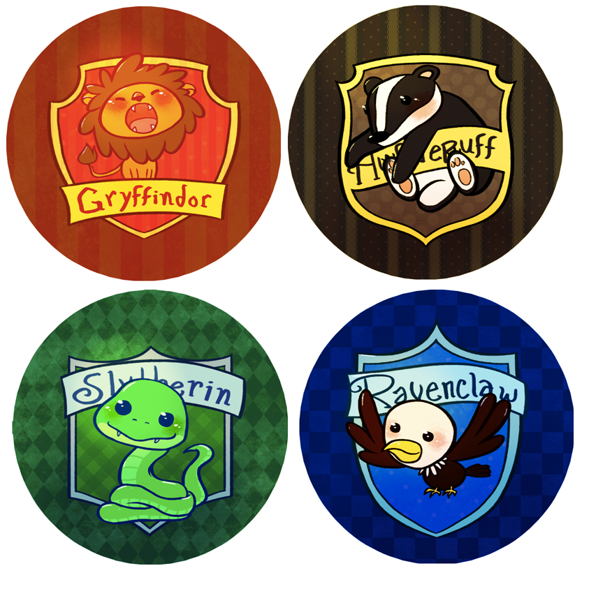 Hogwarts House Buttons By Mayakern ...