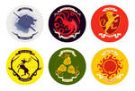 Game of Thrones House Buttons