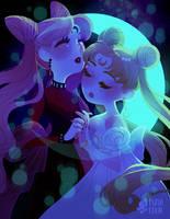 twin moons by mayakern