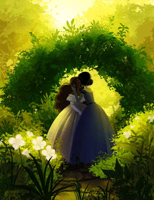 garden kiss by mayakern