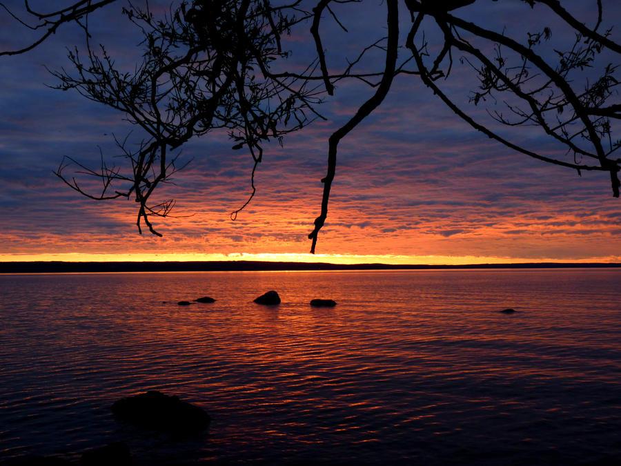 Burning sunset by xLively