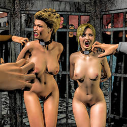 Public Cage Panel Image from the unfinished comic by Arctoss