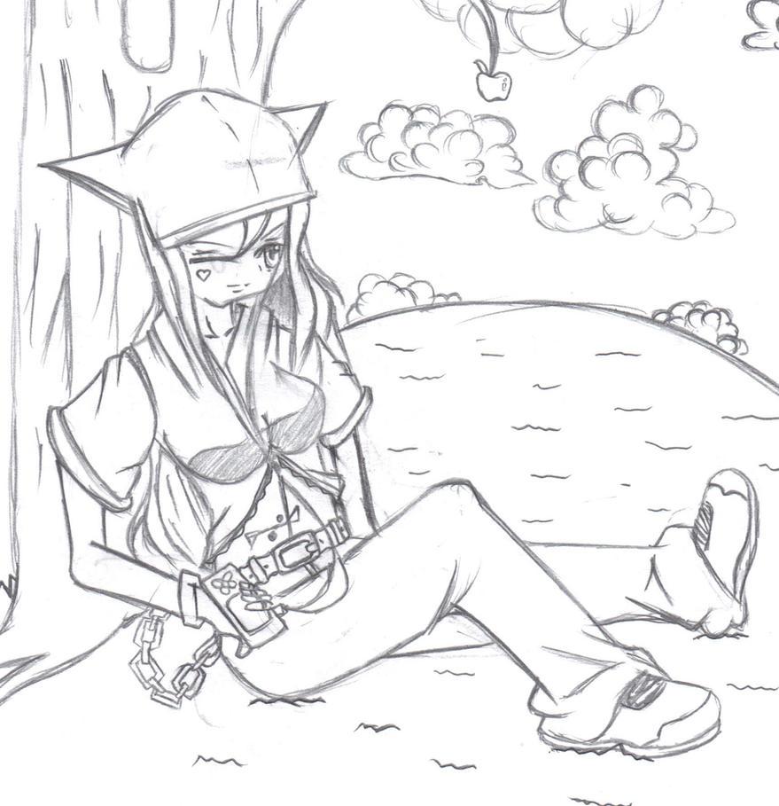 Anime Girl Listening To Music: Anime Girl Listening To Music By Casperdun On DeviantArt