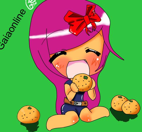 cute chibi eating oranges by casperdun on DeviantArt
