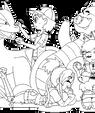 ninjakitten OCs coloring page by NasikaSakura